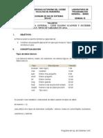 Taller 3- Lectura y Escritura. Tipos de Datos