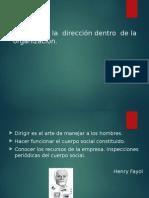 El Papel de La Dirección Dentro de La Organización