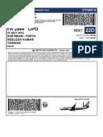 BoardingPassDisplay - Ryanair