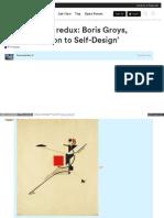 Conversations e Flux Com t e Flux Journal Redux Boris Groys