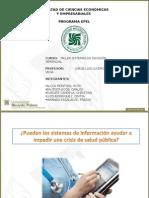 Sistemas de informaciòn en las entidades de salud pùblica