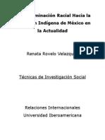 La Discriminación Racial Hacia la Población Indígena de México en la Actualidad