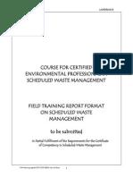 CePSWaM Training Report Format