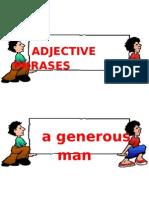 Adjective Phrases Flashcards