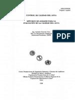 MÉTODOS DE ANÁLISIS PARA LA EVALUACIÓN DE LA CALIDAD DEL AGUA