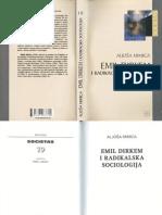 Mimica, Aljoša --- Emil Dirkem i Radikalska Sociologija