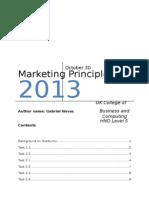 Marketing Principles Gabriel