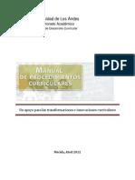 Manual Para Cambio Curricular