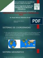 Sistemas de Coordenadas y Datums Del Inegi