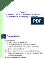 2. El Modelo Clásico Sin Dinero y La Teoría Cuantitativa
