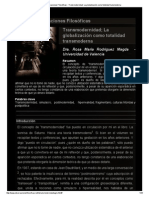 Revista Observaciones Filosóficas - Transmodernidad; La Globalización Como Totalidad Transmoderna