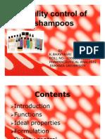 Quality control in shampoos-Bhavya