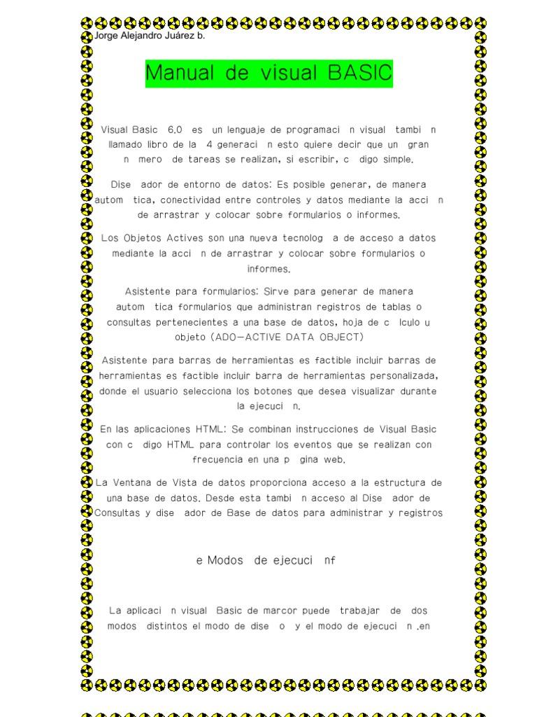 visual basic 6 0 resumen del libro