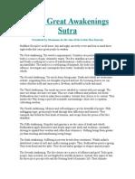Eight Great Awakenings Sutra
