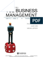 VCE BUSINESS MANAGEMENT