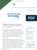 7 Rules to Excel in CAT VA _ GP Ka Funda