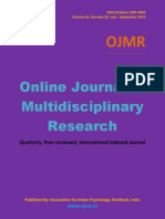 Online Journal of Multidisciplinary Research, Vol 1(2)