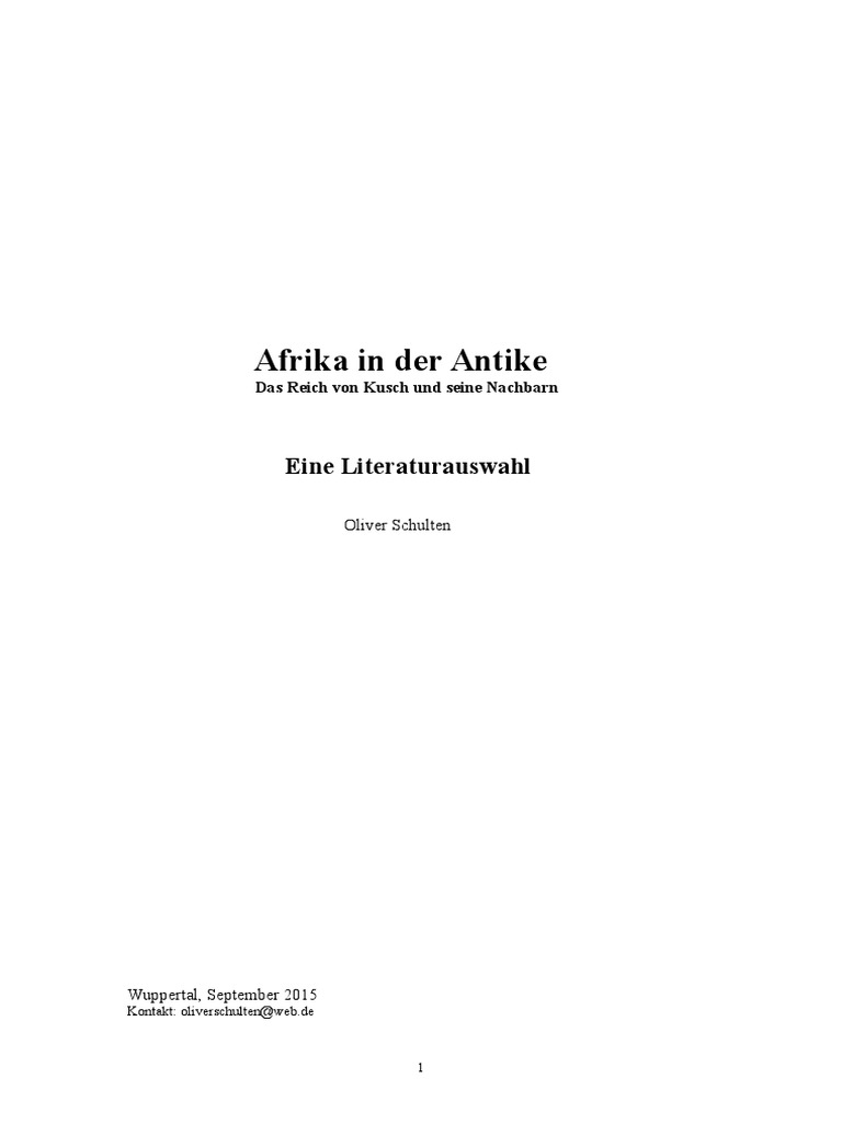Afrika in der Antike / Africa in Antiquity | Sudan | Archaeology