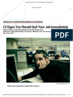 13 Signs You Should Quit Your Job Immediately