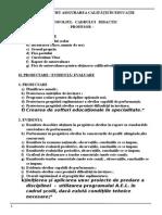 Portofoliul Cadrului Didactic - Profesor – 1