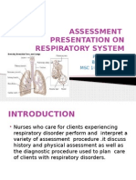 Ppt on Respiratory Assessment