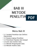 BAB III Skripsi Manajemen Pemasaran