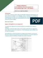 Chapitre 4 (Histoire) - Quelles Sont Les Conditions de Vie Des Paysans Et Des Seigneurs Au Moyen-Age - 06.11.15