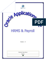 Oracle Applications R12 - HRMS and Payroll - V3