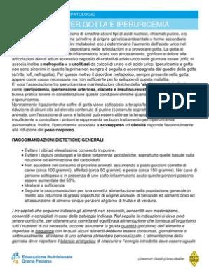 dieta per gotta pdf