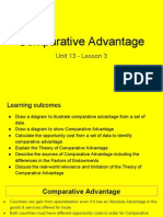 unit 13 - lesson 3 - comparative advantage