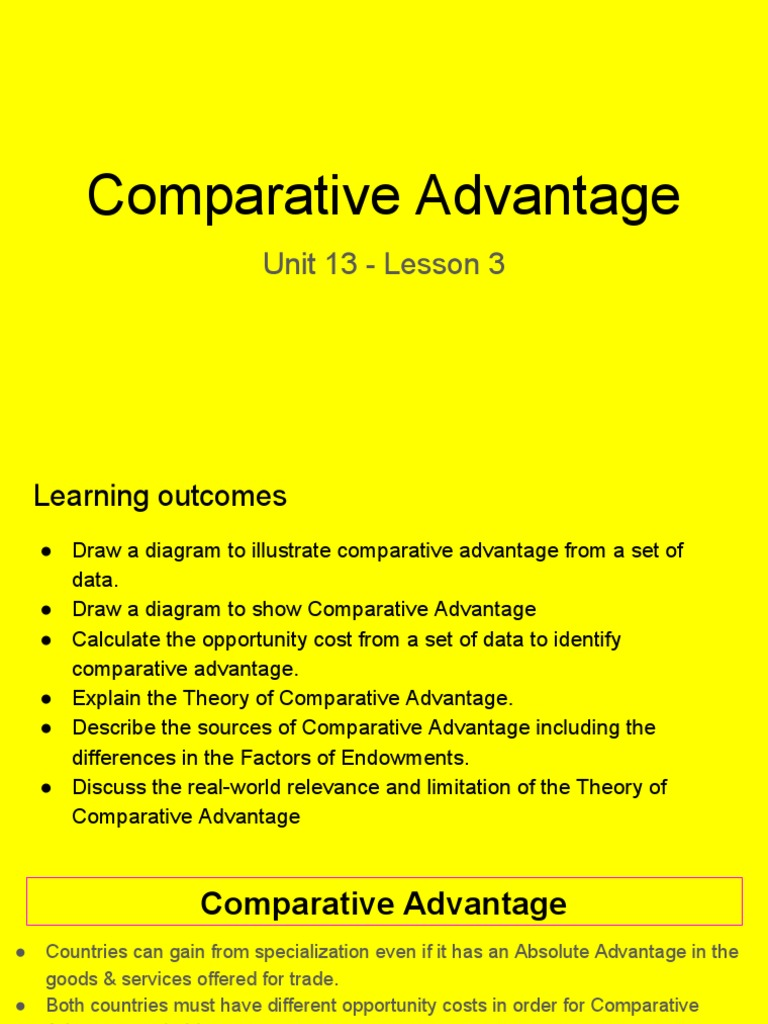 explain the theory of comparative advantage