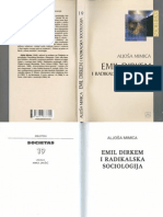 Mimica --- Emil Dirkem i Radikalska Sociologija Searchable