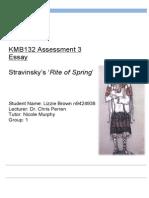 Igor Stravinsky Analysis Essay