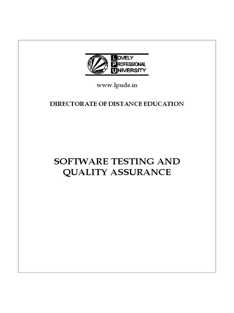 Software Testing and Quality Assurance - Shrivastava - Ibrg | Software  Testing | Software Development Process