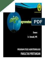 Agrometeorologi