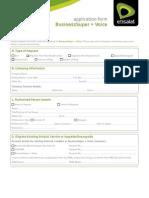 Business Super+Voice Application form