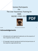 ISMS Awareness Training Session