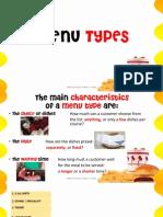 menu types