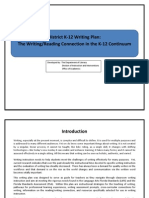 district writing plan
