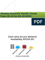 Network Health Check Report Power and Environment 16-10 to 22-10-2015