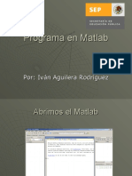 Programa en Matlab Tutorial