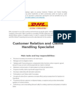 DHL Global Forwarding Rаspisuje Oglаs Zа Poziciju Customer Relation and Claims Handling Specialist