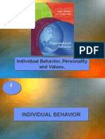 Topic 2-3-4 - Indv Behavior, Personality & Values.ppt