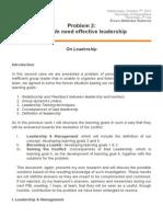 PBL 2 - On Leadership
