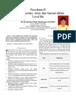 Laporan Praktikum Arsitektur Sistem Komputer - Pointer, Structure, Array dan Operasi dalam Level Bit
