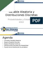 3.1 Variable Aleatoria y Distribuciones Discretas