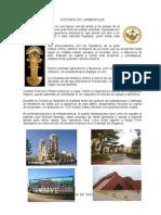 Historia de Lambayeque - Chiclayo Tuman