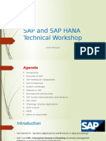 SAP and HANA Technical Workshop