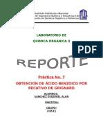 Practica de Benzofenona Con Reactivo de Grignard