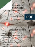 case report Spondilosis TB